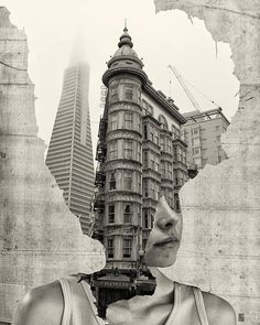 """""""Where is my mind"""" series by Andrea Costantini http://ineedaguide.blogspot.com/2014/12/andrea-costantini.html #art #photography #collage"""