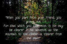 Friendship Quotes by Kahlil Gibran pictures Khalil Gibran Quotes, Kahlil Gibran, Inner Peace, Friendship Quotes, Be Yourself Quotes, Love Quotes, Memes, Pictures, Life