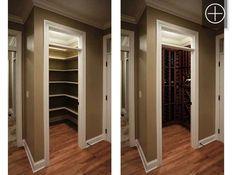 Converta um closet em uma adega