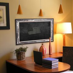 American Made Rayne Rustic Seaside board/Chalkboard (48 x 48)