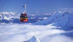 skiing the Kitzsteinhorn Glacier at Zell am See, Austrian alps
