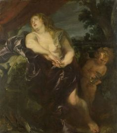 The Penitent Mary Magdalene - Anthony van Dyck.  1620-35.  Oil on canvas.  169 x 148.5 cm.  Rijksmuseum, Amsterdam, Netherlands.