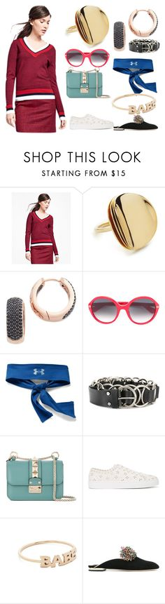 """Wool tennis sweater"" by gadinarmada-1 ❤ liked on Polyvore featuring Brooks Brothers, Elizabeth and James, Bronzallure, Gucci, Under Armour, McQ by Alexander McQueen, Valentino, Simone Rocha, ZoÃ« Chicco and Elie Saab"