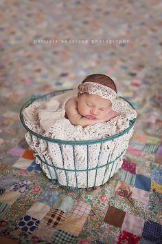 Newborn Vintage Inspired Headwrap Tie back Head by PetuniaandIvy, $10.00