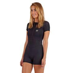 ad58c379cbe65 Billabong Women s 101 Synergy Front Zip Cap Sleeve Spring Wetsuit Swimsuit