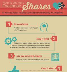 [Infographic] 14 Tips om je Berichten op Facebook beter Gedeeld te krijgen