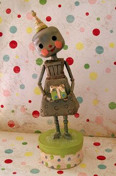 *PAPER CLAY ~ A Robot Birthday by thepolkadotpixie, via Flickr