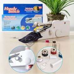 Buy the mini sewing machine online here! Sew, mend, & work on other small projects with ease without dragging out that bulky sewing machine!