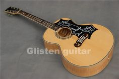 new glisten Elvis Presley J-200 acoustic guitar nature solid wood