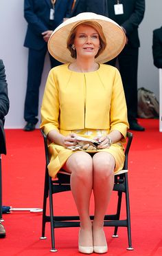 Queen Mathilde of Belgium attends the Belgian federal government ceremony to commemorate the bicentenary of the Battle of Waterloo on June 18, 2015 in Waterloo, Belgium.