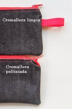 Sew Delicious: Simple Zip Pouch Tutorial For Beginners Sewing Hacks, Sewing Tutorials, Sewing Projects, Sewing Patterns, Sewing Tips, Techniques Couture, Sewing Techniques, Zip Pouch Tutorial, Diy Sewing Table