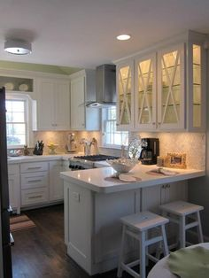 3 Terrific Tips AND Tricks: Fake Marble Backsplash herringbone backsplash laundry rooms.Peel And Stick Backsplash Rustic beadboard backsplash wooden countertops.Peel And Stick Backsplash Vinyl. Home Kitchens, Green Backsplash, Kitchen Design, Kitchen Cabinet Design, G Shaped Kitchen, Kitchen Renovation, Small Kitchen, New Kitchen, Kitchen