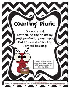 Here's a game where students draw a card and determine the counting pattern that is represented, either by 5s, 10s, or 100s.