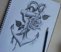 Inspiring picture anchor, tattoo, art, drawing, sketch. Resolution: 500x375. Find the picture to your taste!