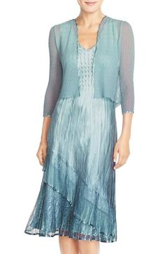 Komarov Ombré Charmeuse A-Line Dress with Jacket (Regular & Petite) available at #Nordstrom