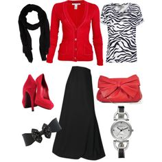 zebra and red go so well together dont they!?:)3 by holinessgurl-ab on Polyvore