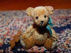 "Mary Bures, A Grand Scale, IGMA  fellow - 1 1/2"" mohair teddy bear; sold on ebay for $227"