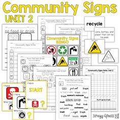 Community / Safety Signs Curriculum with Games and Worksheets for Special Education and Life Skills
