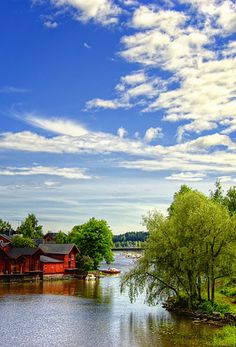 Sunny and serene afternoon, Porvoo, Finland