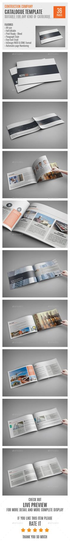 Construction Company A4 Profile Template 0006 — InDesign INDD #branding #stationary • Available here → https://graphicriver.net/item/construction-company-a4-profile-template-0006/9124688?ref=pxcr