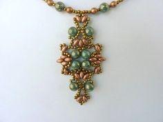FREE beading pattern for Lotus Lace Pendant