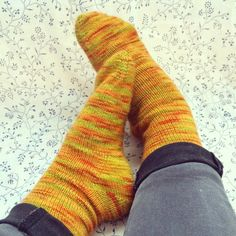 Socks I was made by a Ravelry friend - perfect fit, super snuggly!