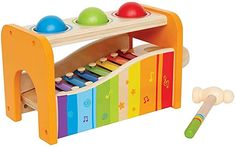 Hape Pound & Tap Bench with Slide Out Xylophone - Award Winning Durable Wooden Musical Pounding Toy for Toddlers, Multifunctional and Bright Colours: Toys & Games Best Educational Toys, Educational Toys For Toddlers, Learning Toys, Toddler Activities, Hape Toys, Fine Motor Skills Development, Child Development, First Birthday Gifts, Musical Toys