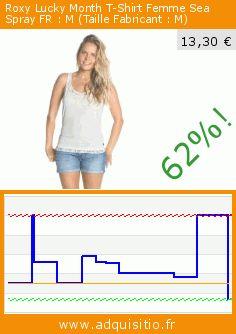 Roxy Lucky Month T-Shirt Femme Sea Spray FR : M (Taille Fabricant : M) (Sports Apparel). Réduction de 62%! Prix actuel 13,30 €, l'ancien prix était de 35,00 €. https://www.adquisitio.fr/roxy/lucky-month-t-shirt-femme-10