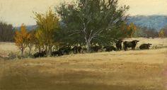 "Afternoon Siesta by Jeri Salter Pastel ~ 9"" x 16"""