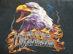 Vintage 1990 HARLEY DAVIDSON 3D Emblem Tshirt/ by sweetVTGtshirt, $50.00
