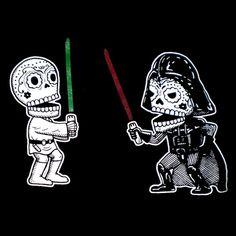 Star Wars Calaveras by Mis Nopales Art