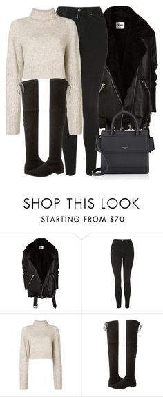 """""""Untitled #5104"""" by beatrizvilar on Polyvore featuring Acne Studios, Topshop, Diesel, Stuart Weitzman and Givenchy"""