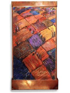 Indoor Art Hanging Wall Fountain: Harvey Gallery:  Autumn By Air Wall Fountain