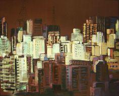 Contraste (2013) óleo e esmalte sobre tela (136 x 168 cm)
