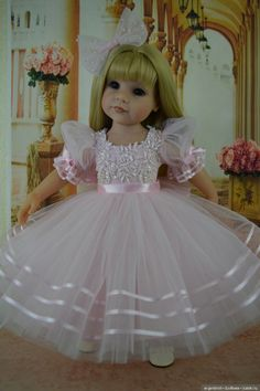 Brides dream Sewing Doll Clothes, American Doll Clothes, Girl Doll Clothes, Doll Clothes Patterns, American Girl Wellie Wishers, Girls Dresses, Flower Girl Dresses, Girl Dress Patterns, Girl Outfits