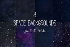 Space backgrounds by The little cloud on @creativemarket