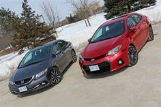 Read about the Autos.ca Comparison Test: 2014 Honda Civic vs 2014 Toyota Corolla