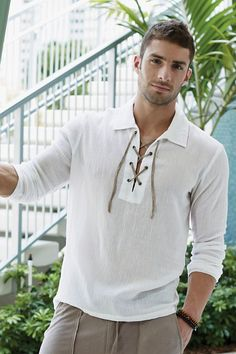 Cabana Mens Tunic Shirt | UnderGear Maybe brown or grey or even dark orange instead of white