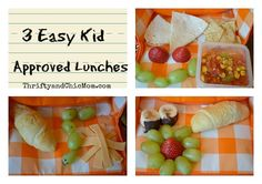 3 easy kid approved lunches via @Ellen Page #kids #lunch #snacks #recipes #backtoschool #sponsored