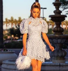Our Janelle dress is the perfect spring/summer dress! Featuring puffed shoulders in a beautiful embroidered... Catwalk Collection, Cold Shoulder Dress, Spring Summer, Summer Dresses, Chic, Mini, Beautiful, Style, Art