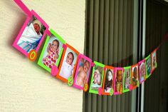Birthday photo banner