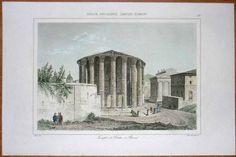 """Engraving, entitled """"Italie ancienne ; temple de Vesta à Rome""""."""