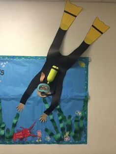 Under the Sea theme Bulletin Board. Classroom Displays, Classroom Themes, Submerged Vbs, Ocean Unit, Under The Sea Theme, Sea Crafts, Ocean Themes, Ocean Theme Decorations, Under The Sea Decorations
