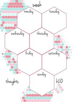 PB and J Studio: Free Printable Planner Inserts Candy Hexagon in A5