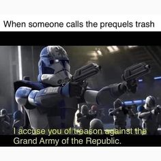 """When you Say """"hello there"""" and they don't reply with """"general Kenobi"""" fat I ¡accusejyou of AS the Grand Arntyo of the Republic. Star Wars Meme, Star Wars Facts, Star Wars Clone Wars, Star Trek, Chewbacca, Walt Disney, Prequel Memes, Epic Movie, War Comics"""