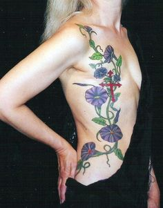 Tattoo over Mastectomy Scar.