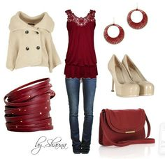 Wine red + winter white made chic with leather accents! #fallcolor #tjmaxx