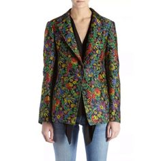 --evaChic--This 3.1 Phillip Lim Floral Jacquard Single-Button Blazer crafted from Italian fabric is a great example of form-fitting tailoring featuring also an exotic botanical motif with great sheen and texture. It is statement outerwear in transitional weather and works with all your SS17 day-to-evening looks         http://www.evachic.com/product/3-1-phillip-lim-floral-jacquard-single-button-blazer/