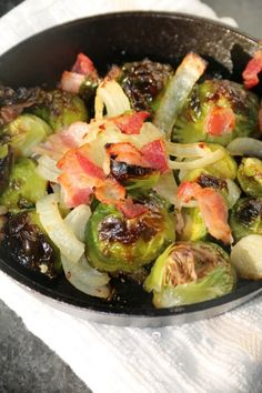 Roasted Brussel Sprouts Recipe. My family loves them. I'm always looking for ways to make them tastier.