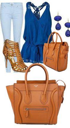 Celine Luggage Handbag Small 26CM in Tan